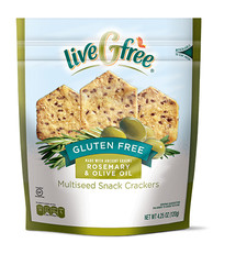 liveGfree Gluten Free Multiseed Crackers Rosemary & Olive Oil