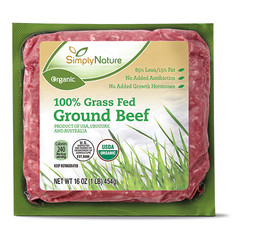 SimplyNature Organic Grass Fed Ground Beef