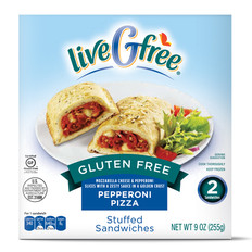 liveGfree Gluten Free Pepperoni Pizza Stuffed