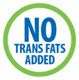 No Trans Fats Added.