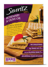 Savoritz Rosemary & Olive Oil Woven Wheat Crackers