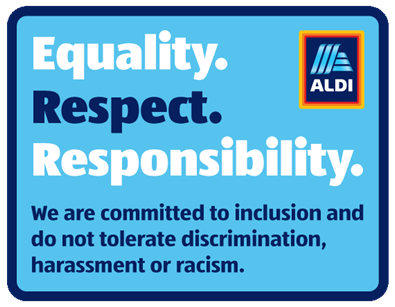 Equality. Respect. Responsibility. We are committed to inclusion and do not tolerate discrimination, harassment or racism.