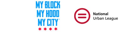 My Block My Hood My City Logo and National Urban League Logo
