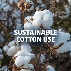 Sustainable cotton use. Learn more.